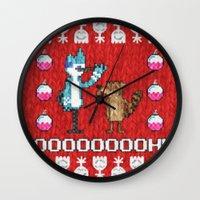 regular show Wall Clocks featuring Regular Sweater by Brieana