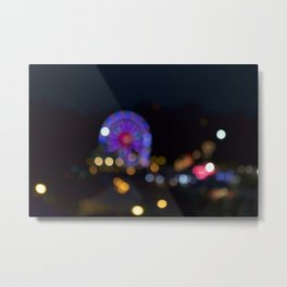 Midway lights Metal Print