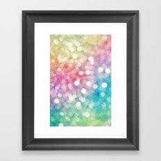 Rainbow Sparkles Framed Art Print