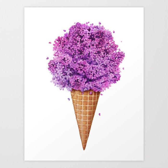 Ice cream with lilac by Kodamorkovkart
