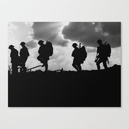 Soldier Silhouettes - Battle of Broodseinde Canvas Print