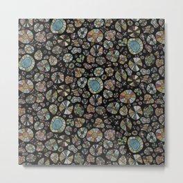 Barca Dots Pattern brown/grey/black Metal Print