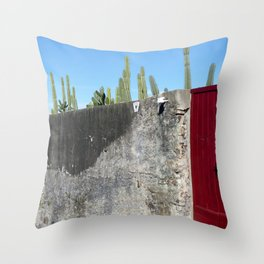 Red & gray Throw Pillow