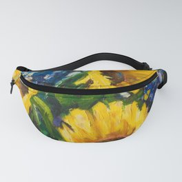 Sunflowers Oil Painting Fanny Pack