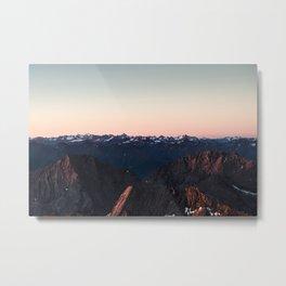 Peaceful sunrise over the Alps Metal Print