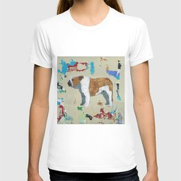 English Bulldog Abstract Art T-shirt