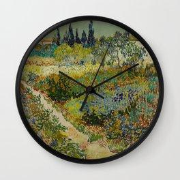 Vincent van Gogh's Garden at Arles Wall Clock