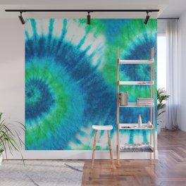 Green into Blue Tie Dye Wall Mural