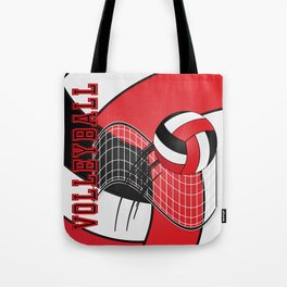 Volleyball Game Time  - Red Tote Bag