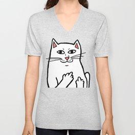 Naughty Cat Unisex V-Neck