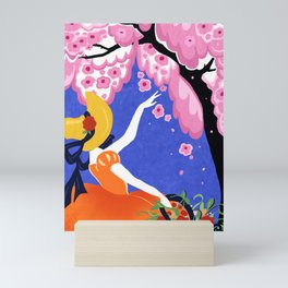 A Southern Belle In The Garden Mini Art Print