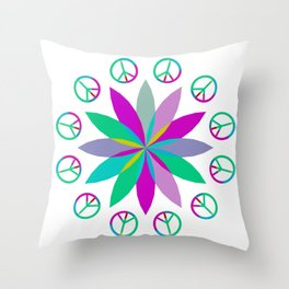 Journey Into Peace Throw Pillow