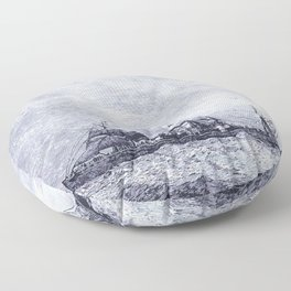 Mastery of Nature by Man Floor Pillow