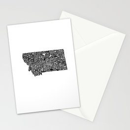 Typographic Montana Stationery Cards