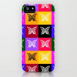 Butterfly drawings- if you look carefully, you'll find the hummingbirds that I drew in their wings iPhone Case