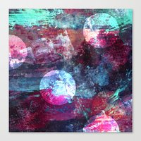 night sky Canvas Prints featuring Night Sky by Marlidesigns