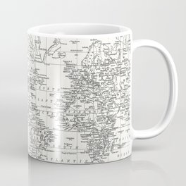White World Map Coffee Mug
