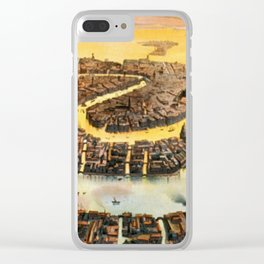 Vintage Map of Venice Italy (1891) Clear iPhone Case