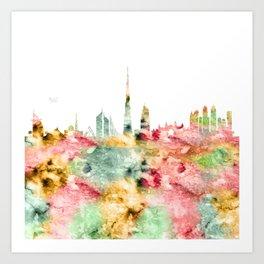Dubai City Skyline Art Print