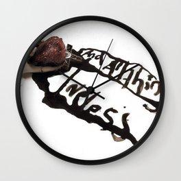 and all things loveless Wall Clock