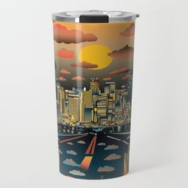 los angeles city skyline Travel Mug
