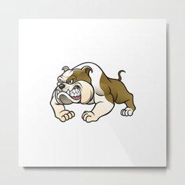 Angry Bulldog Metal Print