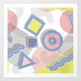 Memphis Geometric Pattern Art Print