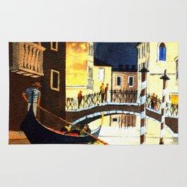 Evening In Venice Italy Rug