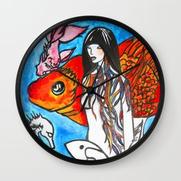 The Sea King's Daughter #society6 #decor #buyart Wall Clock