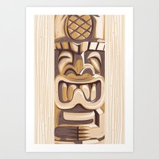 Happy Tiki Art Print