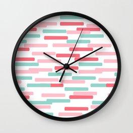 Karena - abstract minimal trendy pattern palette lines dash grid urban affordable dorm college decor Wall Clock