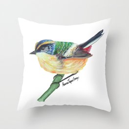 Chilean Bird - Siete Colores Throw Pillow