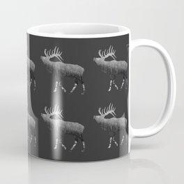 Elk Snowing Forest Pattern Coffee Mug