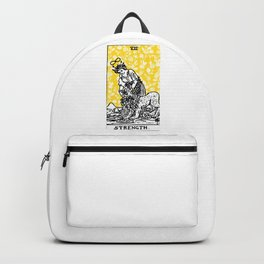 Floral Tarot Print - Strength Backpack
