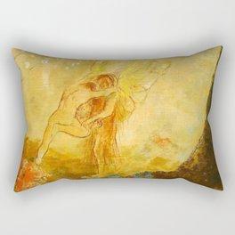 "Odilon Redon ""Jacob Wrestling with the Angel"" Rectangular Pillow"
