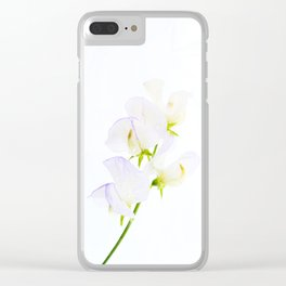 Sweet Pea Clear iPhone Case