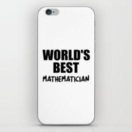 worlds best at maths iPhone Skin