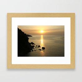Sunset in Elba Framed Art Print