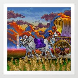 rock the cart !! Art Print