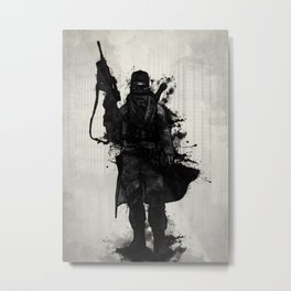 Post Apocalyptic Warrior Metal Print