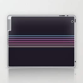 Pink Colored Retro Stripes Laptop & iPad Skin