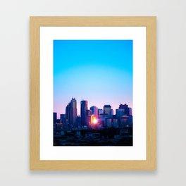 Shinjuku Sunrise Framed Art Print