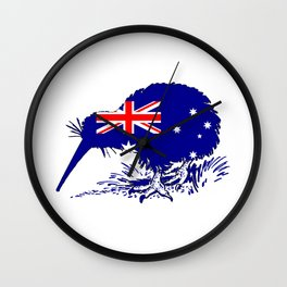Australian Flag - Kiwi Bird Wall Clock