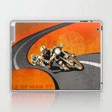 vintage Isle of Man TT motor race poster Laptop & iPad Skin