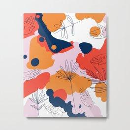 Creation #abstract #digitalart #human Metal Print