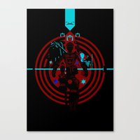 tron Canvas Prints featuring Tron by Florey