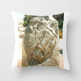 Father by Shimon Drory Throw Pillow