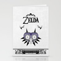 majoras mask Stationery Cards featuring Zelda legend - Majora's mask by Art & Be