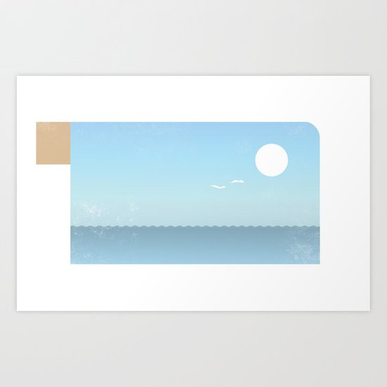 Choppy Waves Art Print