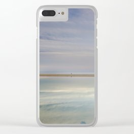 """""""Peace at the seasunset"""". Magic reflections Clear iPhone Case"""